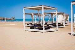Gazebo della spiaggia Fotografie Stock Libere da Diritti