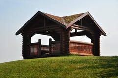 Gazebo di legno Fotografia Stock