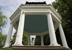 Gazebo with dog Royalty Free Stock Photos