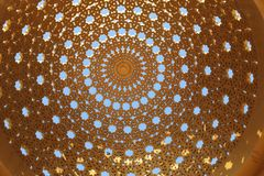 Gazebo Dome Decoration and the sky Stock Images