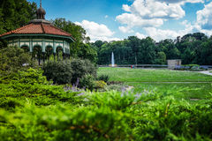 Gazebo at at Eden Park, Cincinnati, Ohio. Gazebo at at Eden Park and blue sky at Cincinnati, Ohio Royalty Free Stock Photo