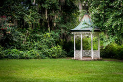 Gazebo on the Edge of the Forest Royalty Free Stock Images