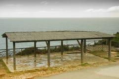 Gazebo efter ett sommarregn Arkivbild