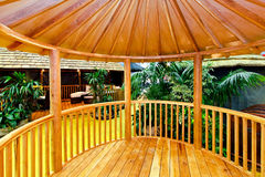 Gazebo en bois Photo libre de droits