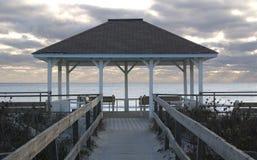 Gazebo en la playa Imagen de archivo libre de regalías