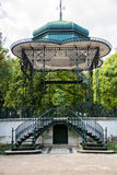Gazebo en los jardines de Estrela en Lisboa Imagen de archivo libre de regalías