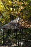 Gazebo en otoño Fotografía de archivo libre de regalías