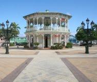 Gazebo en Puerto Plata Foto de archivo libre de regalías