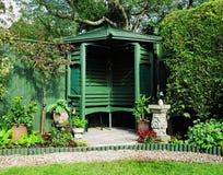 Gazebo in an  English Garden Royalty Free Stock Photos