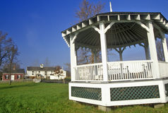 Gazebo in Erie Canal Village, Rome, NY Stock Photography