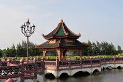 Gazebo för traditionell kines Royaltyfri Fotografi