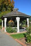 Gazebo. Fall garden setting with a gazebo Royalty Free Stock Photo