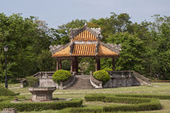 Gazebo in the Forbidden Purple City stock images