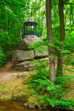 Gazebo in the forest. Gazebo in the on a rock Stock Images