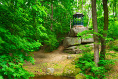Gazebo in the forest. Gazebo in the on a rock Royalty Free Stock Images