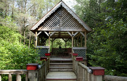 Gazebo in the forest Stock Images