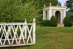 Gazebo in a Garden Stock Photos