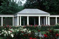 Gazebo Garden. A gazebo surrounded by a lush garden Royalty Free Stock Photos