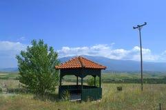 Gazebo in Greek landscape Royalty Free Stock Image