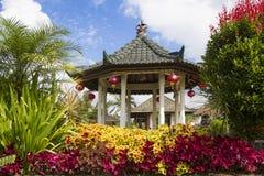 Gazebo i Bali Arkivfoto