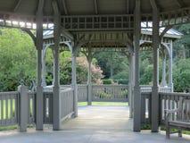 Gazebo i den Norfolk botaniska trädgården Arkivbild