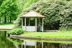 Gazebo i park Royaltyfria Bilder