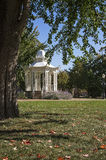 Gazebo i Washington Park Dubuque Iowa Arkivbilder