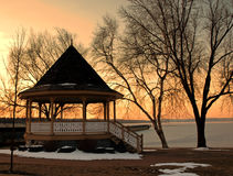Gazebo im Winter Lizenzfreies Stockfoto