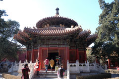 Gazebo in the Imperial Palace Yard in the Forbidden City, Beijing Royalty Free Stock Images