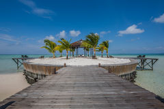 Gazebo On Island Stock Images