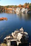Gazebo Island on Mohonk Lake Royalty Free Stock Image