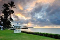 Gazebo at Kahala Hotel and Resort Royalty Free Stock Images