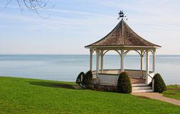 Gazebo by lake 2 Royalty Free Stock Photo