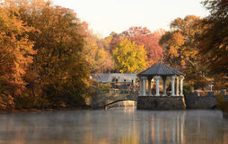 Gazebo on a Lake Royalty Free Stock Photos