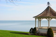 Gazebo by lake 3 Royalty Free Stock Photography
