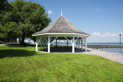 Gazebo on lake in ontario Royalty Free Stock Images