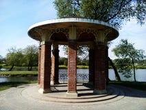 Gazebo on the lake. Park of polish Manor Pan. Gazebo on the lake Royalty Free Stock Photography