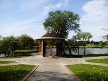 Gazebo on the lake. Park of polish Manor Pan. Gazebo on the lake Stock Images