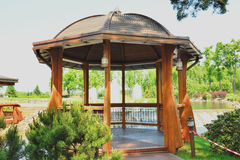 Gazebo by the lake Royalty Free Stock Photos
