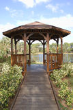 Gazebo. Lakeside gazebo in a nature park Stock Photography