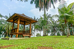 Gazebo in landscape garden Stock Photo