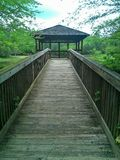 Gazebo. Located at Town Creek Park in Aubrun, Alabama royalty free stock photography