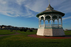 Gazebo on martha's vineyard. At sunset Royalty Free Stock Photos