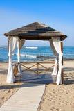 Gazebo on Mediterranean beach, Paphos. Cyprus Stock Images