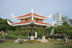 The gazebo in the memorial complex of the Pantheon of Ho Chi Minh. Vung Tau, Vietnam Royalty Free Stock Image