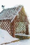 Gazebo met een haan op het dak Royalty-vrije Stock Afbeelding