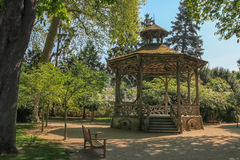 Gazebo at Mirabeau park, Tours. France Royalty Free Stock Photos