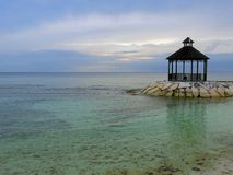 Gazebo na Montego Bay Obraz Royalty Free