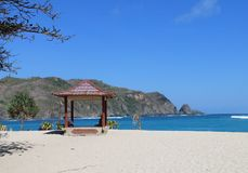 Gazebo na plaży Obraz Stock