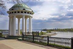 Gazebo na Volga rzece, Yaroslavl, Rosja Fotografia Royalty Free